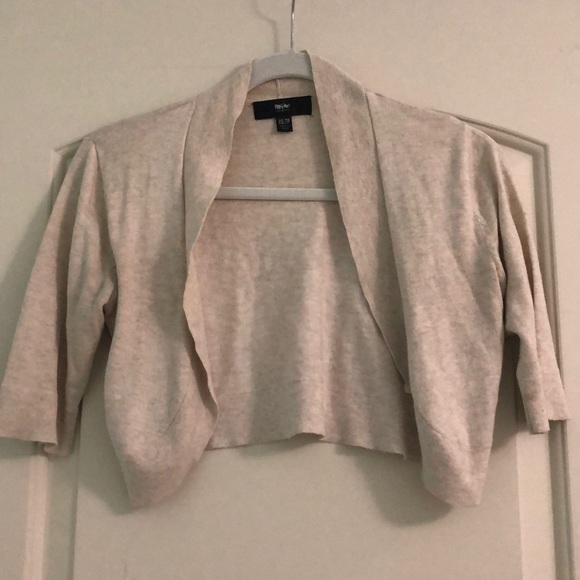 Mossimo Supply Co. Sweaters - Oatmeal Cropped Cardigan